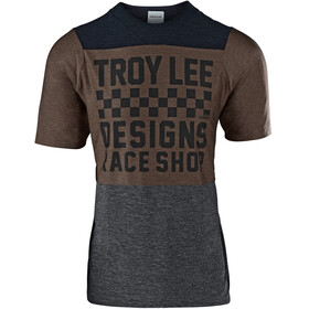 Troy Lee Designs Skyline Air SS Jersey Men checkers/heather black/heather light moka